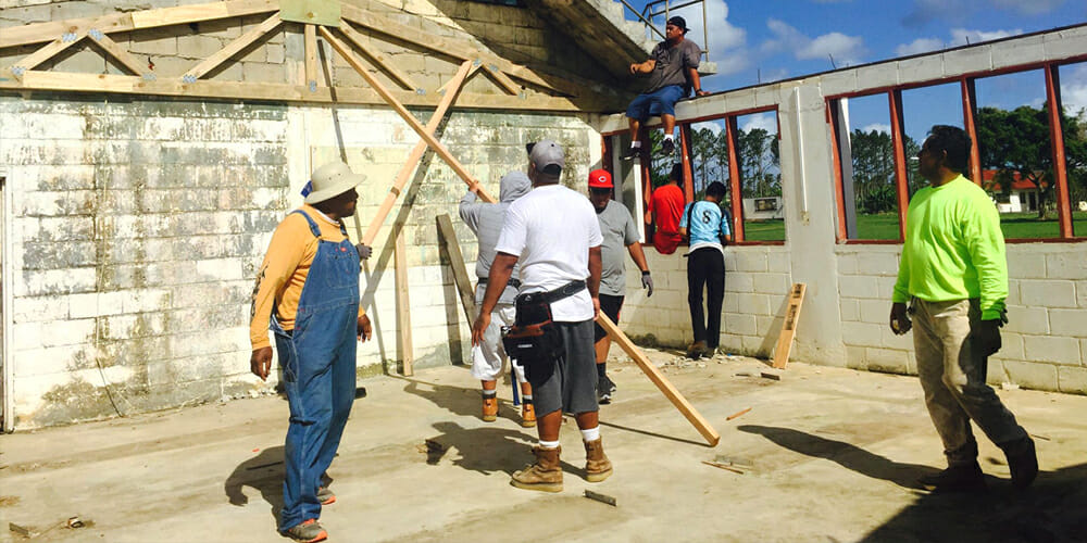 Work Begins to Rebuild Classrooms at Adventist College in