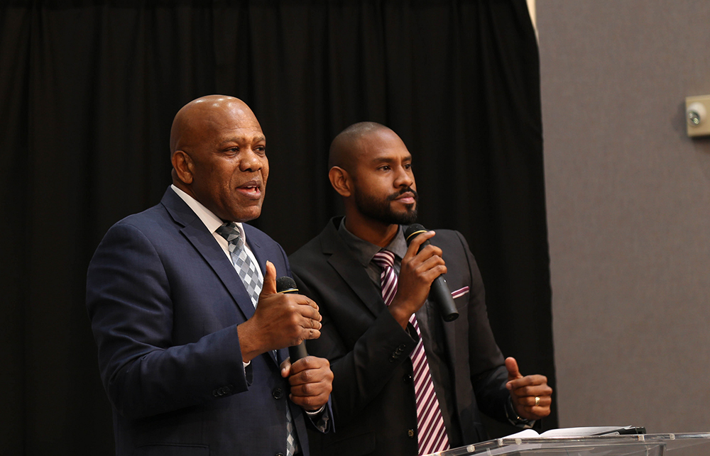Samuel Telemaque (left), Sabbath School director for the church in the  Inter-American Division (IAD), launches a comprehensive initiative to seek  out ...